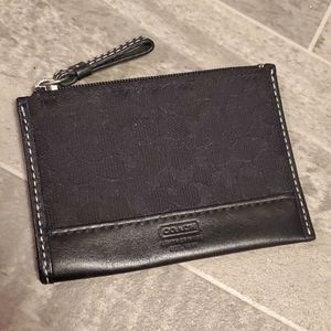 Coach Signature Mini Keychain Wallet